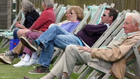 Sidmouth cricket supporters enjoying the match against Cornwood. Photo by Terry Ife ref shsp 2445-21