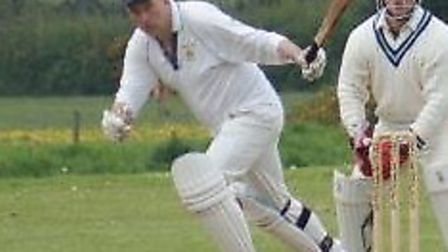 Tipton's Phil Tolley sets off for a single