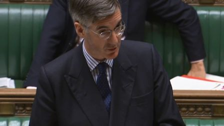 Jacob Rees-Mogg in the House of Commons. Photograph: Parliament TV.
