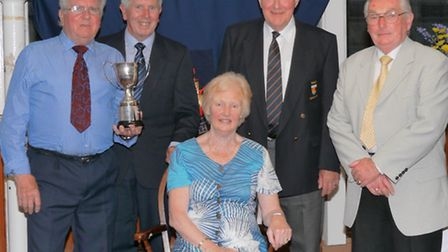 Members of the winning squad of the Men's 3 wood Pairs