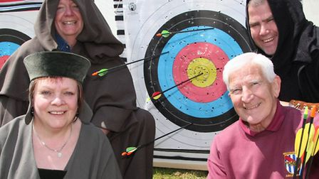 Members of the Grandisson archers at Cadhay May fair. Photo by Terry Ife ref sho 2801-22-13TI To ord