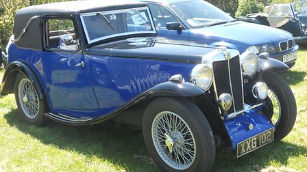 A 1935 MG Faux Cabriolet owned by Keith Portsmore from Winsham, Somerset