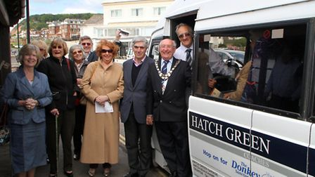 The Sidmouth Hopper bus launched for 2013. Picture by Alex Walton. Ref shs 3005-21-13AW