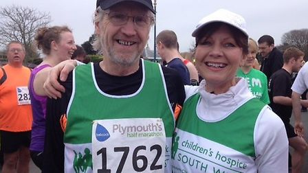 Lex and Catherine Cochrane at the Plymouth half-marathon