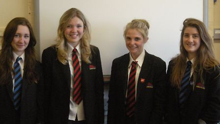 Prom commitee members Becca Cardwell, Kate Welsford, Emily Snelgrove and Daisy Pearce