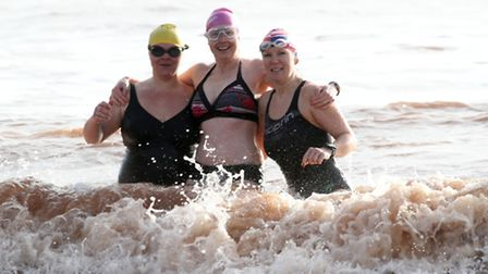 The East Devon Babes (Kate Jackson, Jo Billing and Kathy Anzuino) were in Sidmouth to launch a chari