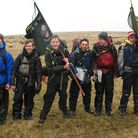 Ottery Scouts team at this year's Ten Tors event on Dartmoor last weekend.