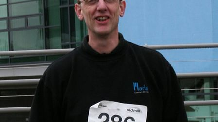 Steve Hartland, who raised more than £400 for charity with a walk.