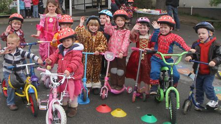Sidmouth Appletree Pre-school held a sponsored wheels event on Saturday, 11 May. Picture by Alex Wal
