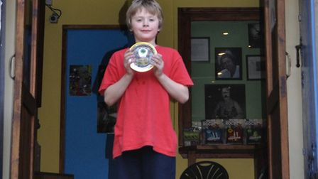 George Anning with his second place shield