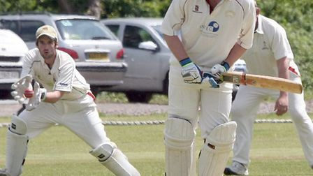 Batsman Dan Fowler for Ottery St Mary against Ipplepen. Photo by Terry Ife ref shsp 2831-22-13TI To