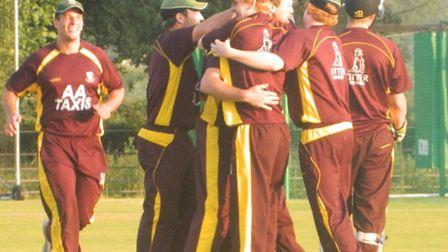 Sidmouth celebrate after wining the final