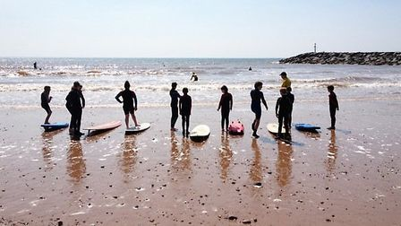 Sidmouth Surf Life Saving Club on duty at the beach