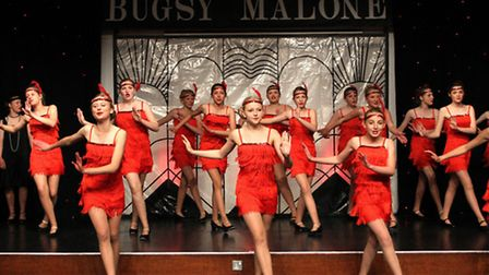 The Sidmouth Youth Theatre are currently perfoming Bugsy Malone. Photo by Simon Horn. Ref shs 9695-2