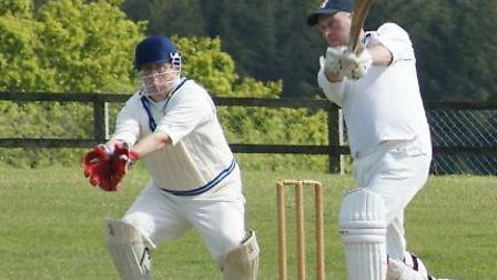 Phil Tolley batting