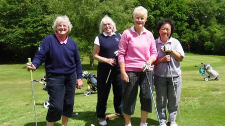A very contented group of ladies on the Sidmouth course