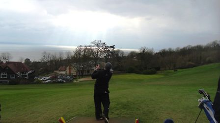 Sidmouth golf: Jonathon Lee on 18th temporary tee - 'Go towards the light!'