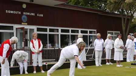 Elaine Reed playing in the Spears Trophy match at the club