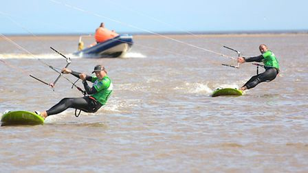 Kite boarding off Exmouth