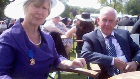 Frances Newth at the garden party