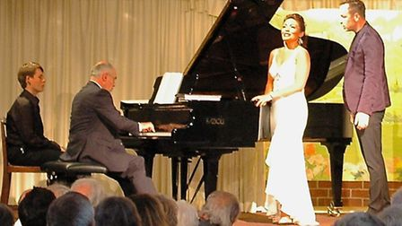Saturday 27 July 2013: International opera stars Ailyn Pérez and Stephen Costello, accompanied by Ia