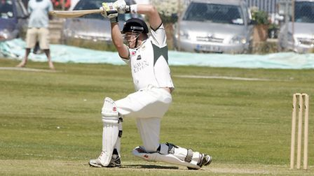 Sidmouth batsman Pete Randerson against Torquay. Photo by Terry Ife ref shsp 3125-28-13TI To order y