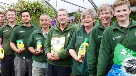 Staff at Sidmouth Garden Centre are celebrating a new sponsorship deal - and hope customers will be