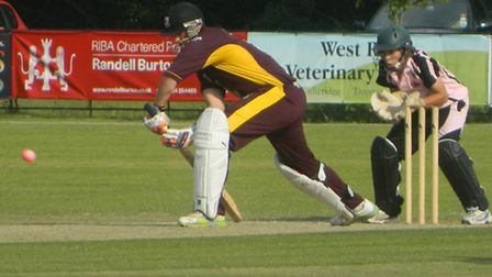 Sidmouth in action against Exmouth in the Twenty20 final