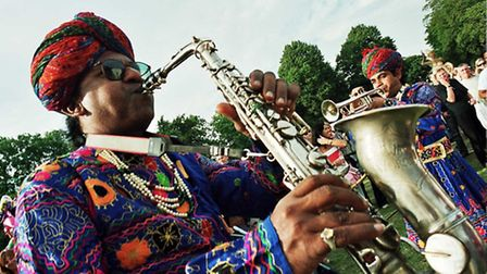 Jaipur Kawa Brass Band are appearing at the Sidmouth FolkWeek 2013 (Thursday 8 August)