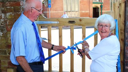 'This gate is now open!' - Dave and Shirley Holman