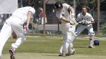 Sidmouth batsman Pete Randerson against Torquay. Photo by Terry Ife ref shsp 3132-28-13TI To order y