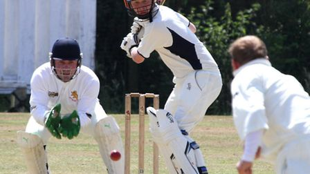 Ottery cricket club away to Axminster at the weekend. Jack Pritchard keeps his eye on the ball. Pict