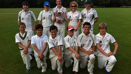 Sidmouth's cup winning Under-12s