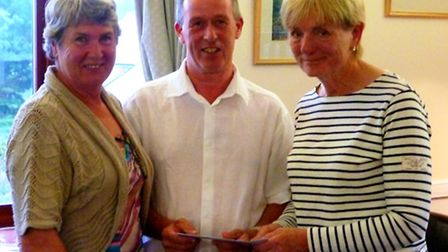 Yvonne Anning and Ros Eaton receive their first place prize