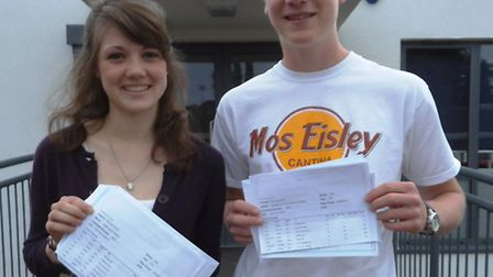 The top achievers at The King's School show off their outstanding A-Level marks. Left to right – Li