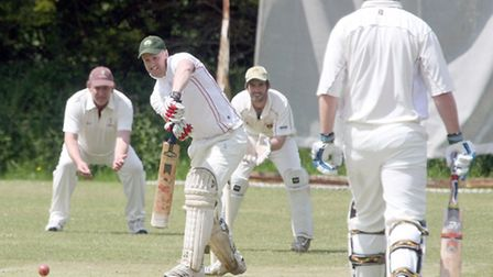 Batsman Ed Fowler for Ottery St Mary against Ipplepen. Photo by Terry Ife ref shsp 2819-22-13TI To o