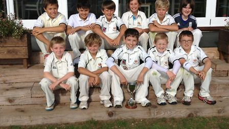 Sidmouth's victorious Under-11 team