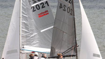 Pictures on Sunday from the sailing championships at Sidmouth. Photo by Simon Horn. Ref shsp 7029-34