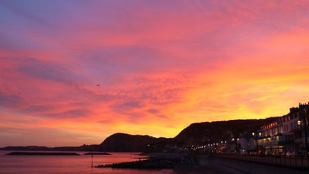 Sunset over Sidmouth. Photo by Eve Mathews.