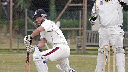 Anthony Grittiths was given out LBW against Bradnich. Photo by Terry Ife ref shsp 4165-31-13TI To or