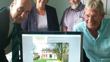 Pictured left to right are Councillor Stuart Hughes, Kennaway House vice chairman Diana Bowerman, pr