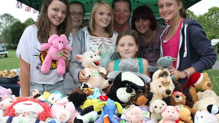 Lots to chose from on the Cuddly Toy Tombola at the Ottery Fun Day on Sunday. Photo by Simon Horn. R