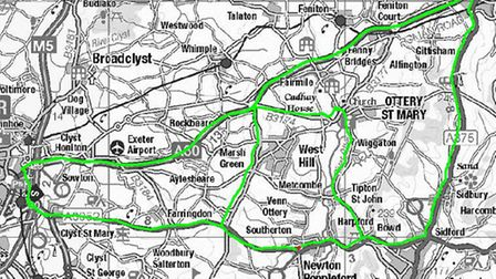 Diversions for low vehicles and high vehicles during the three-week closure on the A3052 at Newton P