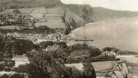 A postcard of Sidmouth, possibly featuring a successor to the SS Sidmouth
