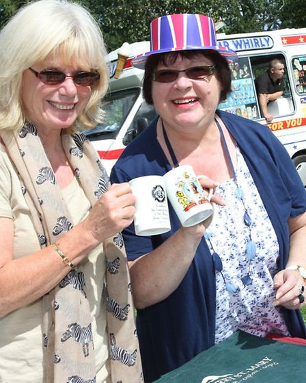 Cheers-Town councillor Jo Talbot and Phyllis Baxter are pictured at the 2012 Ottery fun day. Photo b