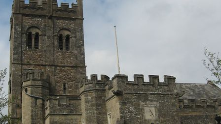 St Giles Church, Sidbury. Church tours are every Thursday afternoon, until late September.