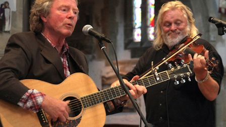 An intimate gig at St Giles and St Nicholas church. Folk musician Reg Meuross joined by Phil Beer an