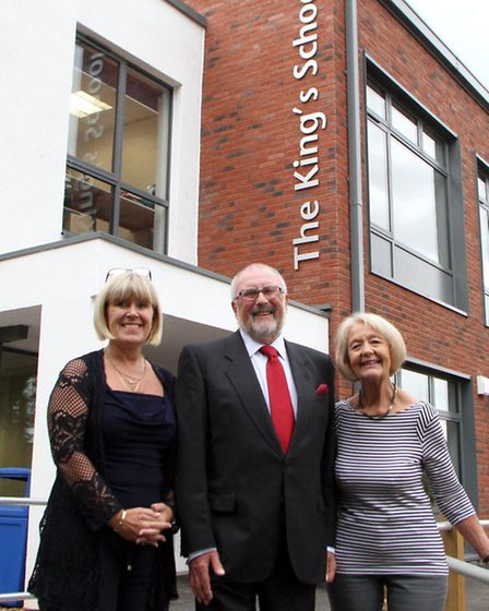 New classrooms were opened at The King's School ready for the new school year. School governor Cllr