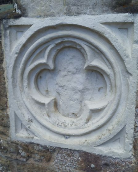 The Consecration Cross which would need to be moved as part of the extension plans