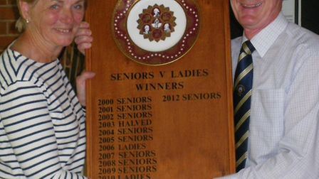 Sidmouth ladies defeated the men!